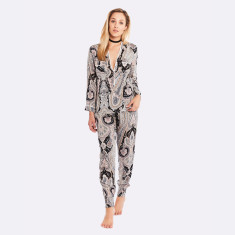 Harmony Long Pj Set  Black / Pink