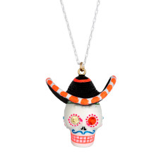 sombrebro calaveras long necklace