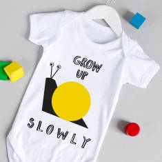 Grow up slowly babygrow