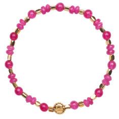 Signature bracelet in pink jade