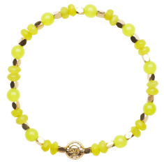Signature bracelet in neon yellow jade
