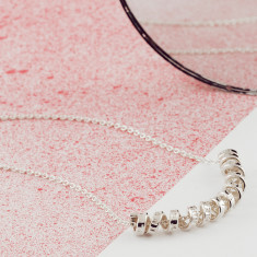 Silver Personalised Scroll Necklace