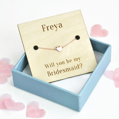 Will You Be My Bridesmaid Personalised Heart Bracelet