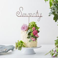 Seventy wire cake topper
