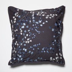 Jardin charcoal European pillowcase