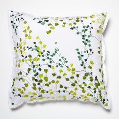 Jardin green European pillowcase