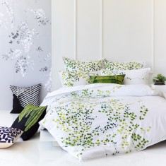Jardin green quilt cover set