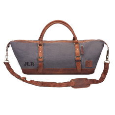 Canvas travel duffle in grey