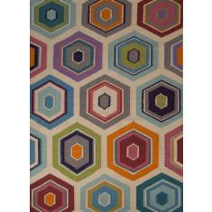 Multi handmade flat weave wool rug