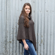 Lightweight Turtleneck Merino Poncho
