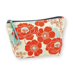 Cosmetic Pouch In Japanese Flowers Print