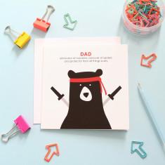 Dad protector card
