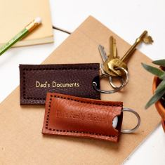 Leather USB holder and key ring