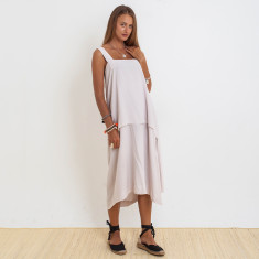 Ashley Penida Dress In Oyster