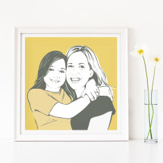 Personalised Contemporary Family Portrait Print