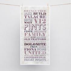 Vintage Parchment word art print