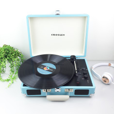 Crosley Cruiser Deluxe Bluetooth Turntable With Pitch Control - Turquoise