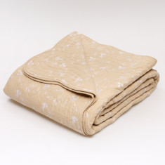 Sibelle coverlet in white on champagne