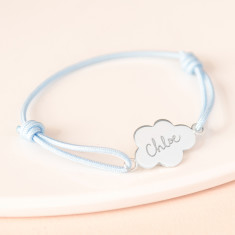 Child's personalised cloud charm bracelet