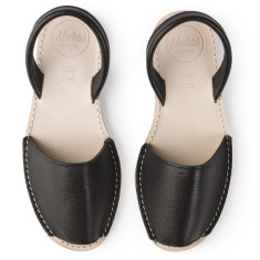 Alohas Black Leather Sandal