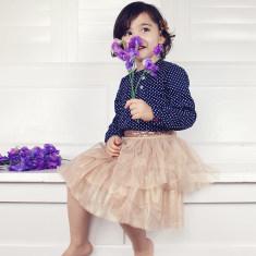 Tulle petticoat skirt with sequin trim