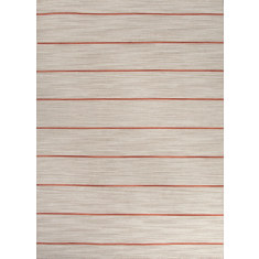 Ashwood & coral flat-weave wool rug