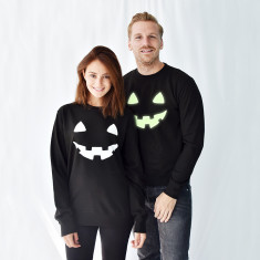 Pumpkin Face Halloween Unisex Sweatshirt Jumper