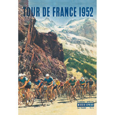 Tour de France 1952 Linen Wall Hanging