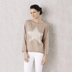 Star Sweater In Beige