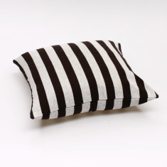 Solid stripe cushion cover in black & white