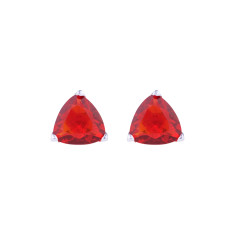 Crystal studs in ruby red