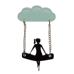 Erstwilder view to a cloud brooch