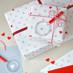 Mini Love Messages Wrapping Paper Set
