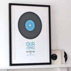 Personalised Our Song Print - A3