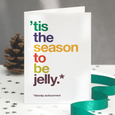 Funny jelly autocorrect Christmas card