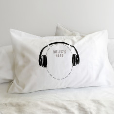 Funny Headphones Pillowcase with optional personalisation