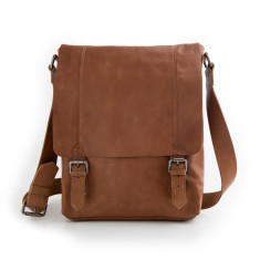 Ryder messenger laptop bag in tan