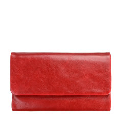 Audrey leather wallet in red