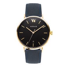 Versa 40 Watch In Gold with Navy Band