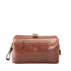 Personalised Duno L Men's Leather Wash Bag