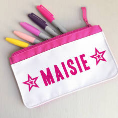 Children's Personalised Star Fabric Pencil Case