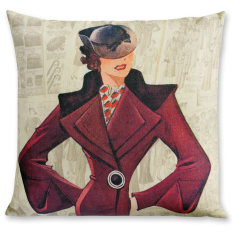 Madame Dominique linen cushion cover