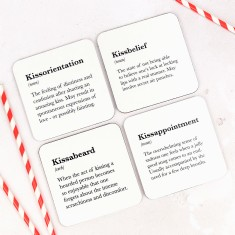 Set Of Four Funny Love Coasters