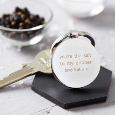 You're The Salt To My Pepper Engraved Keyring