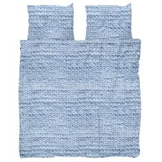 Snurk quilt cover set knit blue