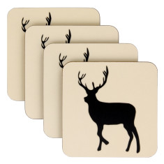 Kissing Stags Coasters (Set of 4)