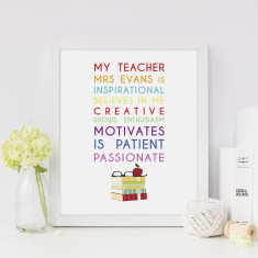 My teacher personalised print