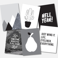 Monochrome Postcards (Set of 6)
