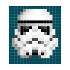IXXI Star Wars stormtrooper pixel wall art