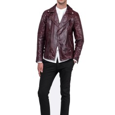 Oxblood red MB3 leather jacket